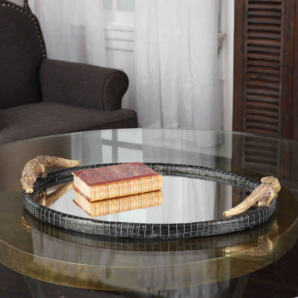Alligator Mirrored Tray