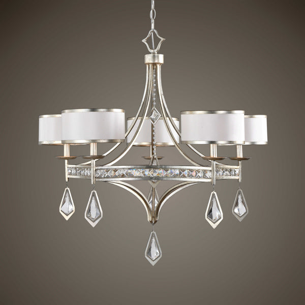 Uttermost Tamworth 5 Light Silver Chandelier | Lighting - ModelDeco