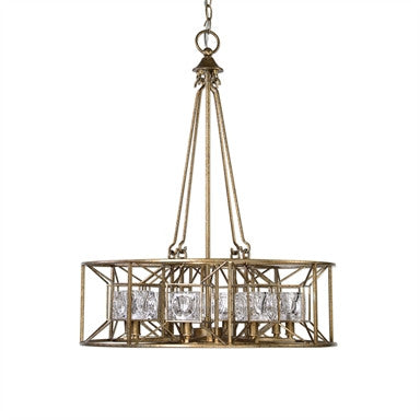 Uttermost Ghiaccio 8 Light Swedish Iron Pendant - ModelDeco