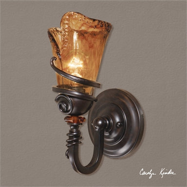 Uttermost Vitalia 1 Light Bronze Wall Sconce