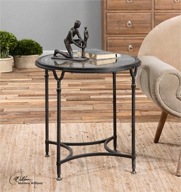 Uttermost Samson Glass Side Table - ModelDeco