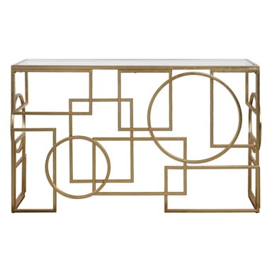 Uttermost Metria Gold Console Table