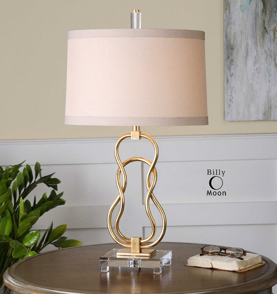 Adelais Curved Metal Lamp
