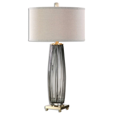 Uttermost Vilminore Gray Glass Table Lamp
