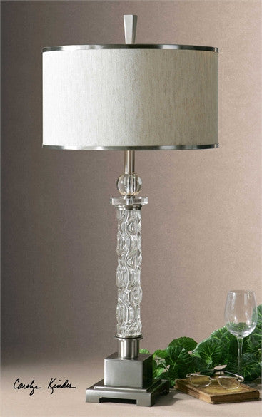 Uttermost Campania Glass Table Lamp - ModelDeco