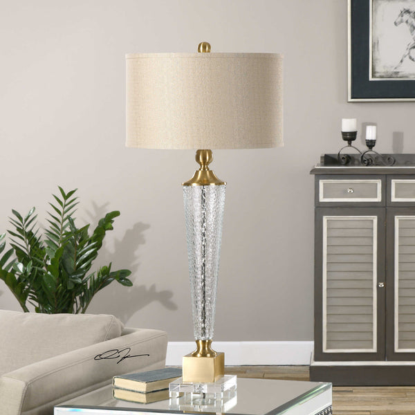 Uttermost Credera Textured Glass Lamp - ModelDeco