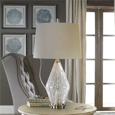 Uttermost Spezzano Crackled Glass Lamp