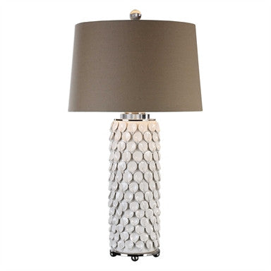 Uttermost Calla Lillies Gloss White Lamp - ModelDeco