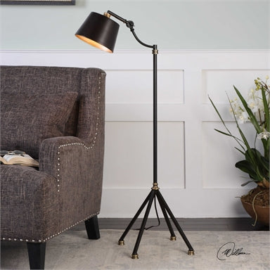 Uttermost Marias Black Metal Floor Lamp