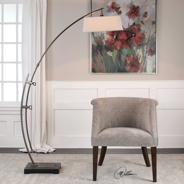 Uttermost Calogero Dark Bronze Arc Floor Lamp BO TILL 12-29-16 - ModelDeco