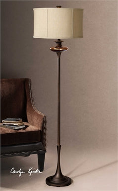 Uttermost Lahela Copper Bronze Floor Lamp