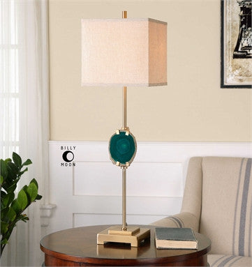 Uttermost Achates Emerald Agate Buffet Lamp - ModelDeco