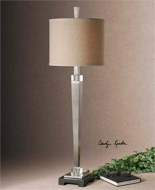 Uttermost Terme Brushed Nickel Buffet Lamp