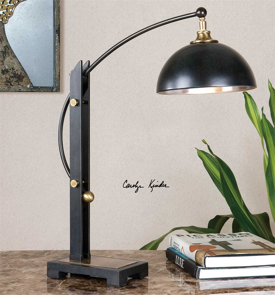 Uttermost Malcolm Oil Rubbed Bronze Desk Lamp - ModelDeco