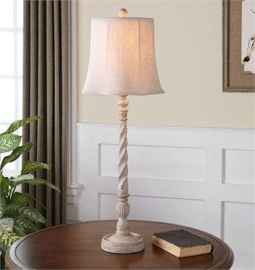Uttermost Arcevia Aged Ivory Buffet Lamp - ModelDeco