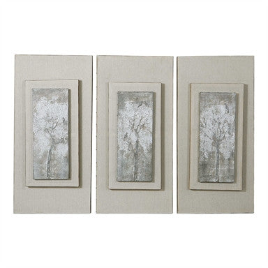 Uttermost Triptych Trees Hand Painted Art Set/3  BO TILL 1-15-17 - ModelDeco