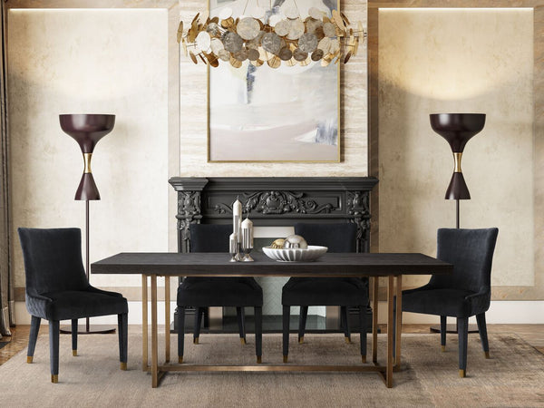 MASON MODERN BLACK DINING TABLE