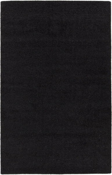 Black Hand-Woven Contemporary Rug - ModelDeco