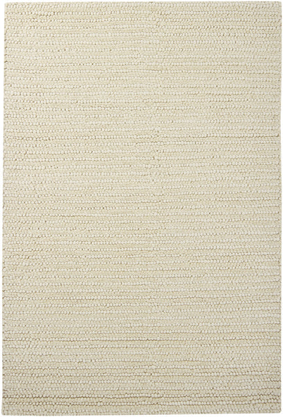 Ivory Hand-Woven Contemporary Rug - ModelDeco