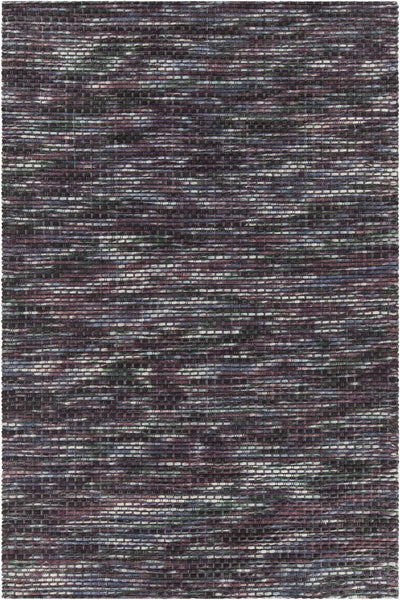 Purple/Multi Hand-Woven Contemporary Wool Rug - ModelDeco