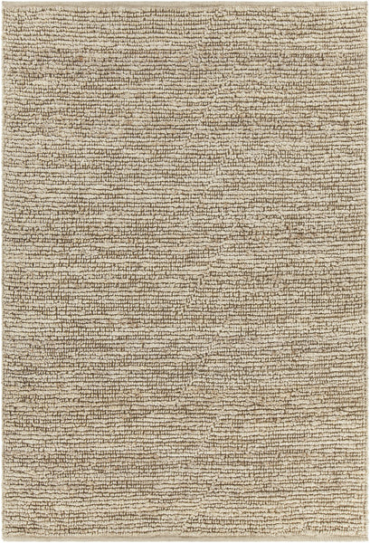 Arlene collection Bleached Hand-Woven Solid Color Jute Rug - ModelDeco