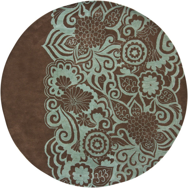 Chandra Aschera Blue/Brown Hand-Tufted Contemporary Rug - ModelDeco