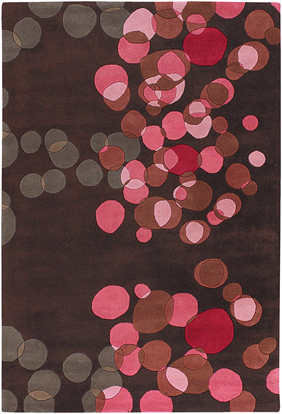 Brown/Red/Pink/Taupe Hand-Tufted Contemporary Rug - ModelDeco