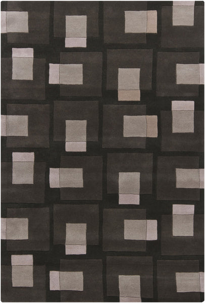 Black/Grey/Ivory Hand-Tufted Contemporary Rug - ModelDeco