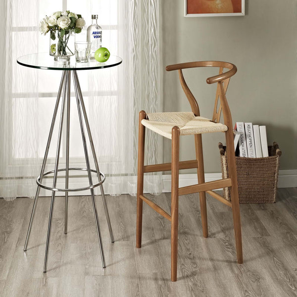 Amish Wood Bar Stool - ModelDeco