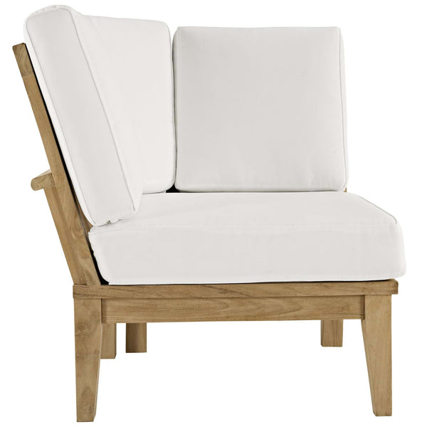 Marina Outdoor Patio Teak Corner Sofa - ModelDeco