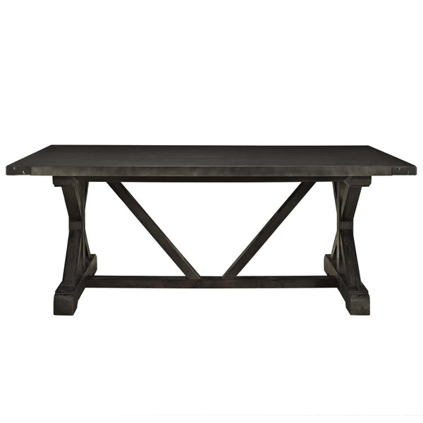 Anvil Wood Dining Table with Pine Base - ModelDeco