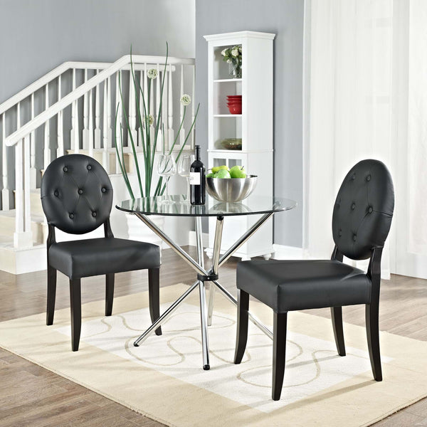Button Dining Side Chair Set of 2 - ModelDeco