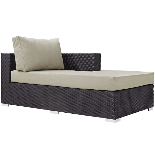 Convene Outdoor Patio Fabric Right Arm Chaise