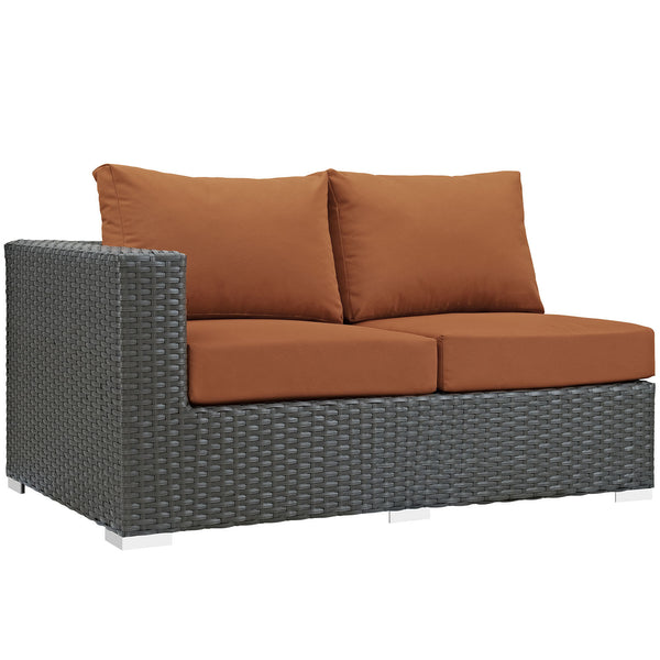 Sojourn Outdoor Patio Sunbrella® Left Arm Loveseat