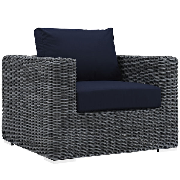 Summon Outdoor Patio Fabric Sunbrella® Armchair