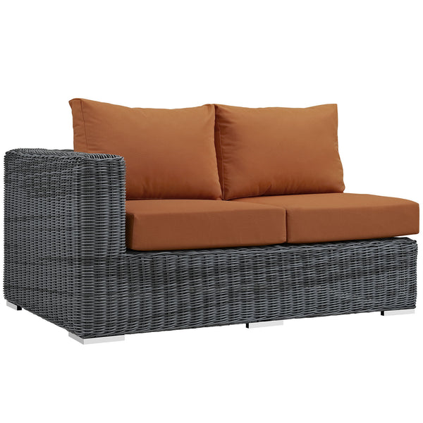 Summon Outdoor Patio Sunbrella® Left Arm Loveseat