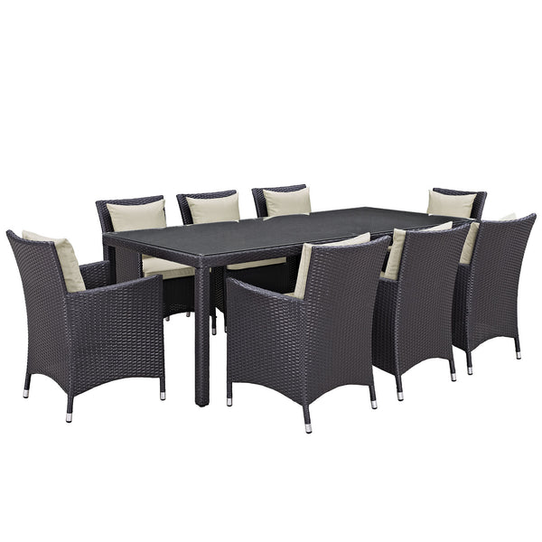 Convene 9 Piece Outdoor Patio Dining Set