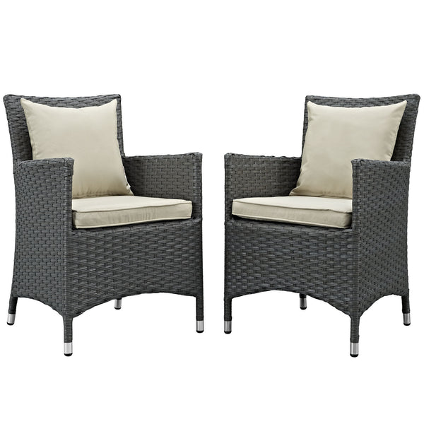 Sojourn 2 Piece Outdoor Patio Sunbrella® Dining Set
