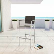 Shore Outdoor Patio Modern Bar Stool