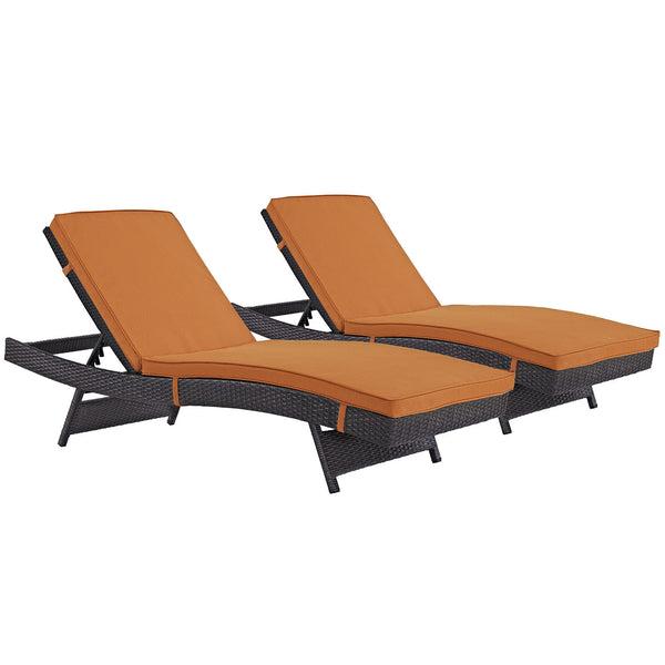 Convene Chaise Outdoor Patio Set of 2