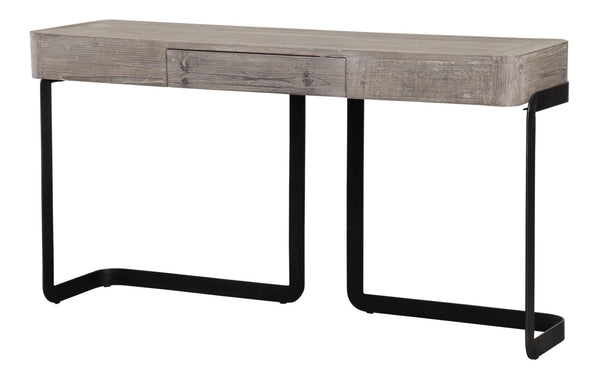 "Cypress Modern Reclaimed Wood Console Table 56"" x 16"" - ModelDeco"