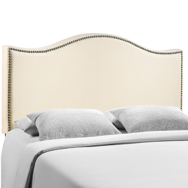Curl Queen Nailhead Upholstered Headboard