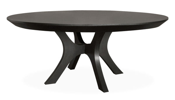 Extra Large 72 inch Ebony Round Dining Table