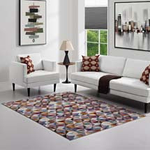 ARISA GEOMETRIC HEXAGON MOSAIC 8X10 AREA RUG IN MULTICOLORED