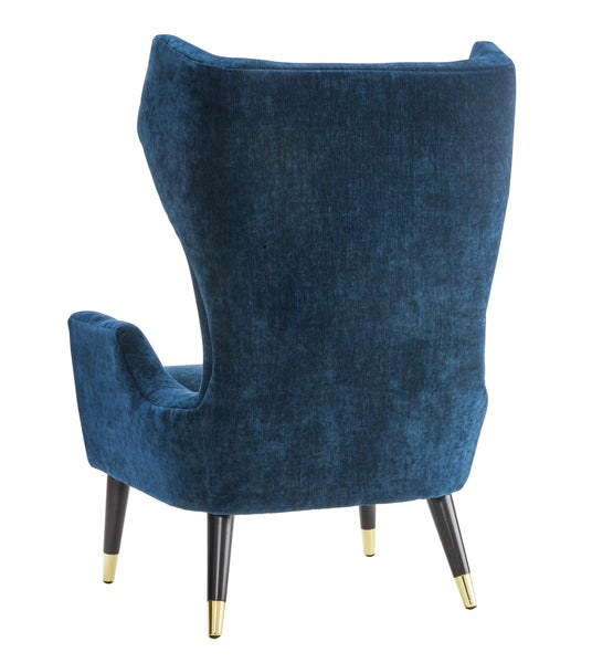 Logan Navy Velvet Chair - ModelDeco