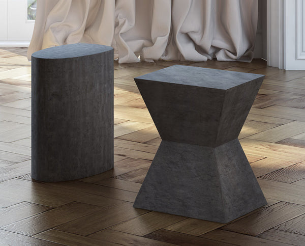 Everly Concrete Oval Stool - ModelDeco