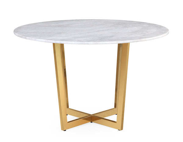 Maxim White Marble Dining Table - ModelDeco