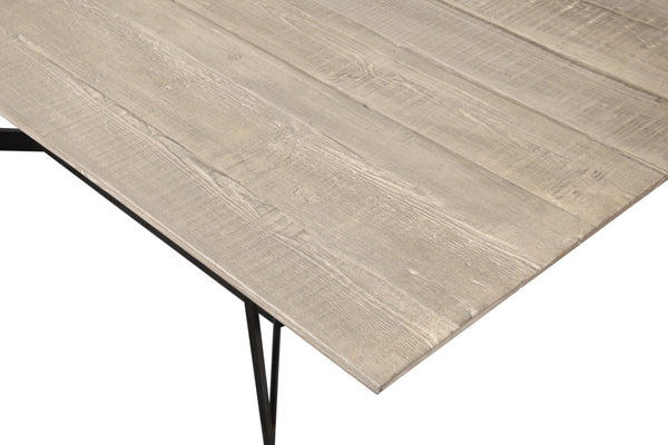 "Alton Modern Reclaimed Wood Dining Table 87"" Length - ModelDeco"