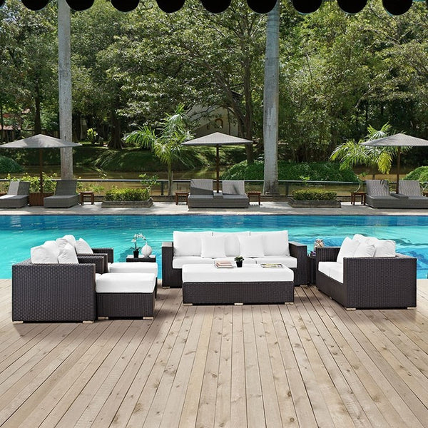 Convene 9 Piece Outdoor Patio Sofa Set - ModelDeco