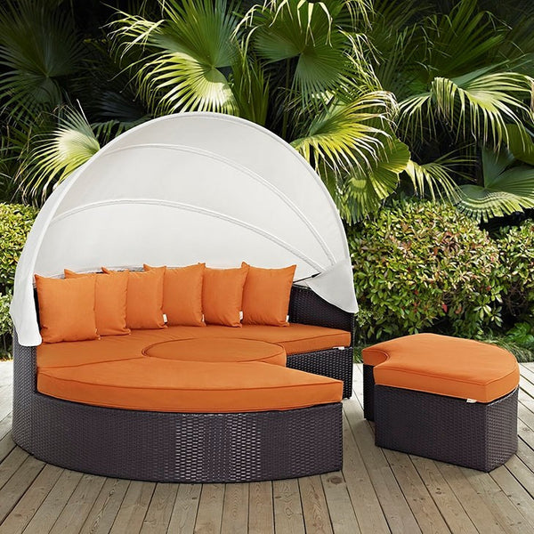 Convene Canopy Outdoor Patio 5 Daybed - ModelDeco